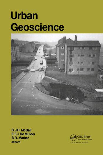 Urban Geoscience AGID Special Publication nr.20 book cover