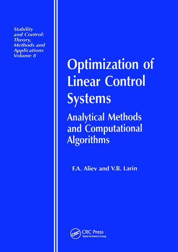 Optimization of Linear Control Systems Analytical Methods and Computational Algorithms book cover