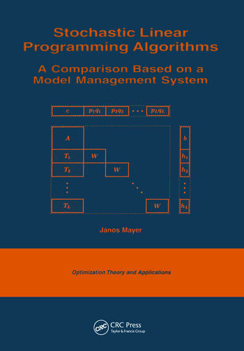 Stochastic Linear Programming Algorithms A Comparison Based on a Model Management System book cover