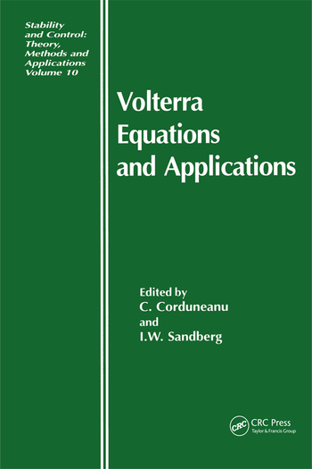 Volterra Equations and Applications book cover