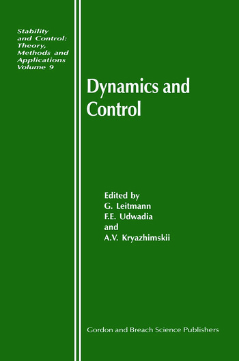 Dynamics and Control book cover