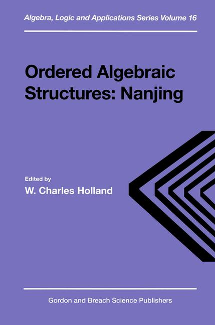 Ordered Algebraic Structures book cover