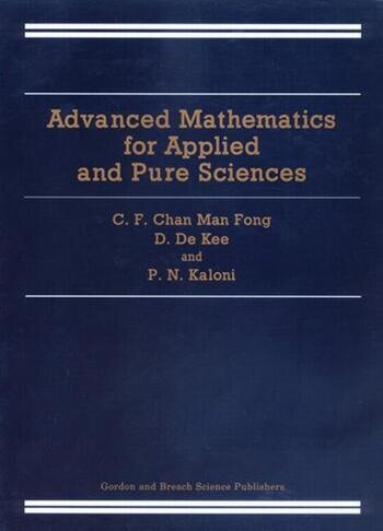Advanced Mathematics for Applied and Pure Sciences book cover