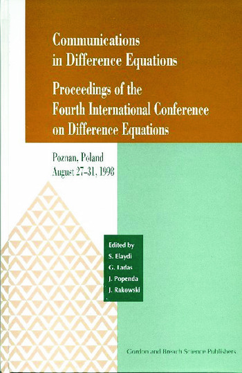 Communications in Difference Equations Proceedings of the Fourth International Conference on Difference Equations book cover
