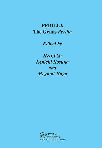 Perilla The Genus Perilla book cover