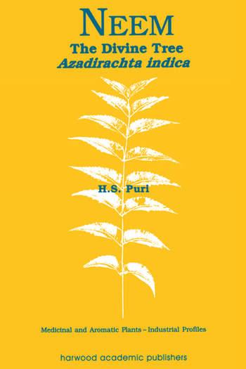 Neem The Divine Tree Azadirachta indica book cover