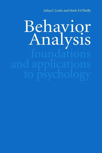 Behavior Analysis Foundations and Applications to Psychology book cover