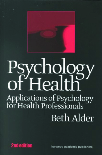 Psychology Of Health Applicati book cover