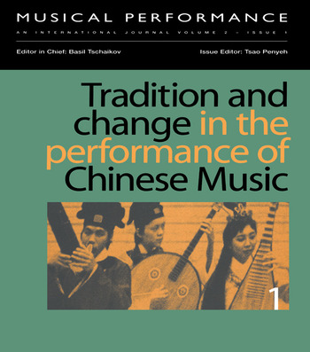 Tradition & Change Performance book cover