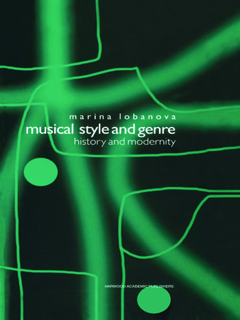 Musical Style and Genre History and Modernity book cover