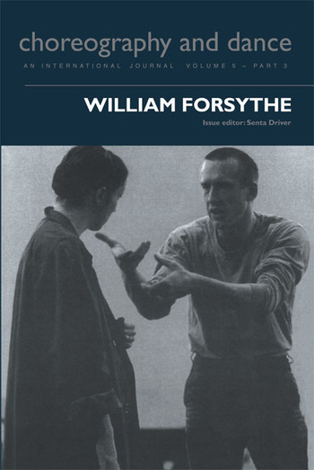 William Forsythe book cover