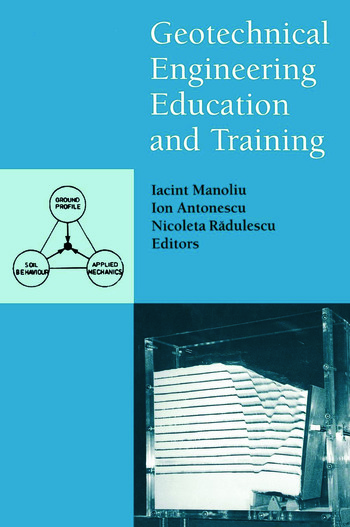 Geotechnical Engineering Education and Training book cover