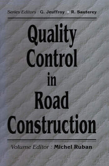 Quality Control in Road Construction book cover