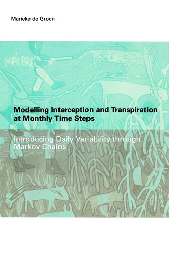 Modelling Interception and Transpiration at Monthly Time Steps IHE Dissertation 31 book cover