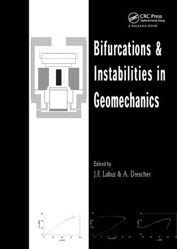 Bifurcations and Instabilities in Geomechanics Proceedings of the International Workshop, IWBI 2002, Minneapolis, Minnesota, 2-5 June 2002 book cover