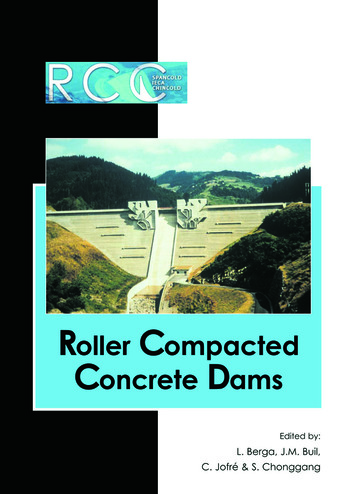 RCC Dams - Roller Compacted Concrete Dams Proceedings of the IV International Symposium on Roller Compacted Concrete Dams, Madrid, Spain, 17-19 November 2003- 2 Vol set book cover