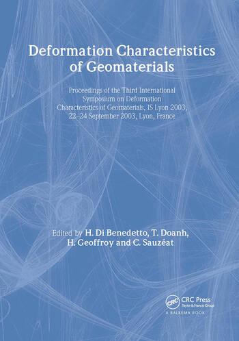Deformation Characteristics of Geomaterials / Comportement Des Sols Et Des Roches Tendres book cover