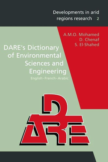 DARE's Dictionary of Environmental Sciences and Engineering book cover
