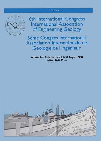 6th international congress International Association of Engineering Geology, volume 1 Proceedings / Comptes-rendus, Amsterdam, Netherlands, 6-10 August 1990 book cover
