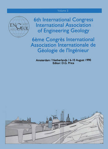 6th international congress International Association of Engineering Geology, volume 3 Proceedings / Comptes-rendus, Amsterdam, Netherlands, 6-10 August 1990 book cover