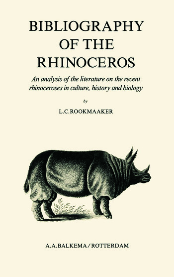 Bibliography of the Rhinoceros book cover