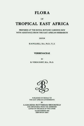 Flora of Tropical East Africa - Verbenaceae (1992) book cover