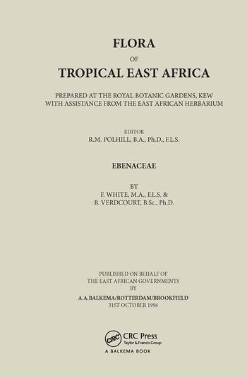 Flora of Tropical East Africa - Ebenaceae (1996) book cover
