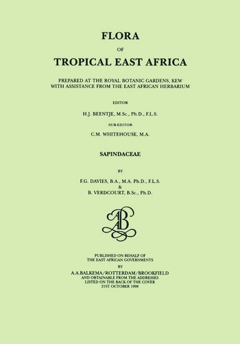 Flora of Tropical East Africa - Sapindaceae (1998) book cover