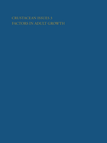 Crustacean Issues 3 Factors in Adult Growth book cover