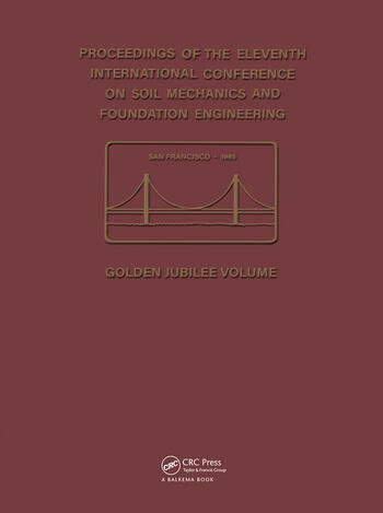 11th International Conference on Soil Mechanics and Foundation Engineering Proceedings of the 11th international conference on soil mechanics and foundation engineering - San Francisco, 12-16 August 1985 - Golden jubilee volume book cover