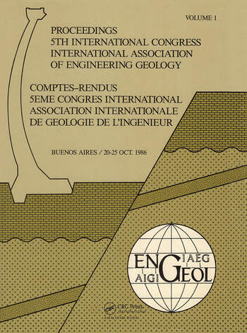Proc 5th Int Congress Int Assoc of Engineering Geology Argen book cover