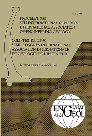 5th Int Congress Int Assoc of Engineering Geology Argen book cover