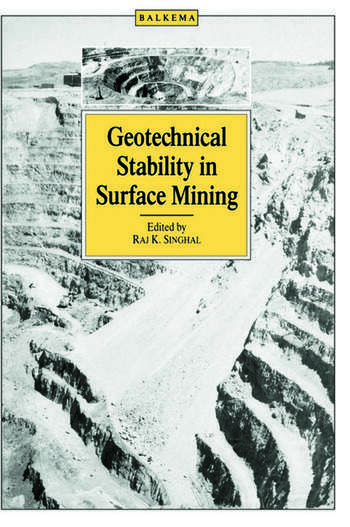 Geotechnical Stability in Surface Mining book cover