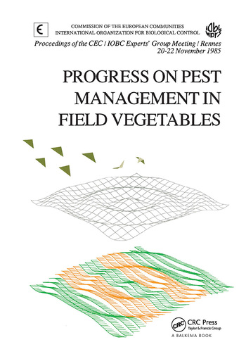 Progress on Pest Management in Field Vegetables book cover