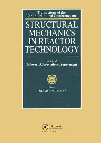Structural Mechanics in Reactor Technology Indexes, Abbreviations, Supplement book cover
