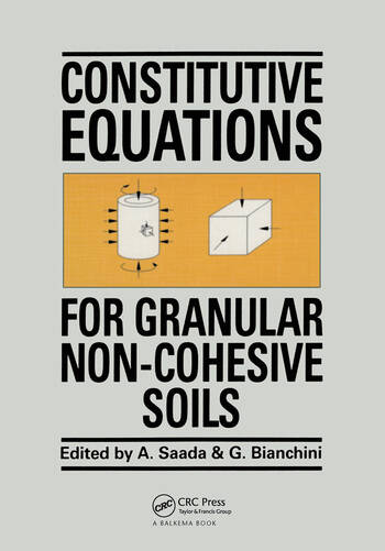 Constitutive Equations for Granular Non-Cohesive Soils book cover
