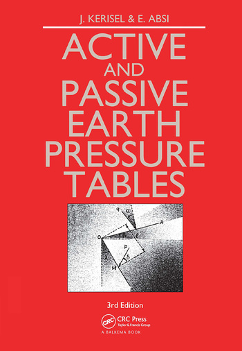 Active and Passive Earth Pressure Tables book cover