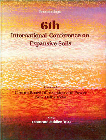 6th International Conference on Expansive Soils, volume 1 Proceedings, New Delhi, 1-4 December 1987, 2 volumes book cover
