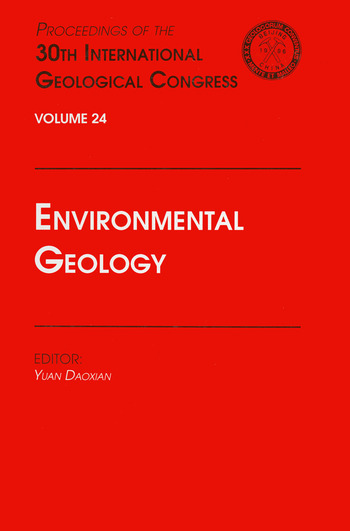 Environmental Geology Proceedings of the 30th International Geological Congress, Volume 24 book cover