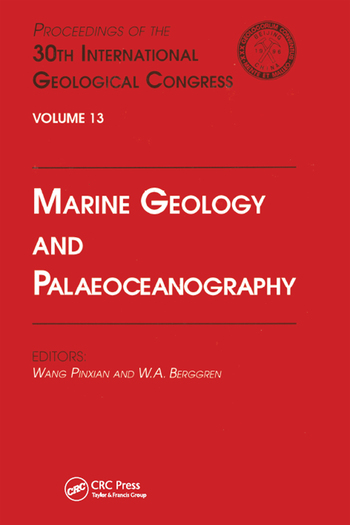 Marine Geology and Palaeoceanography Proceedings of the 30th International Geological Congress, Volume 13 book cover