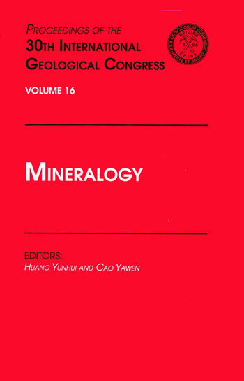 Mineralogy Proceedings of the 30th International Geological Congress, Volume 16 book cover
