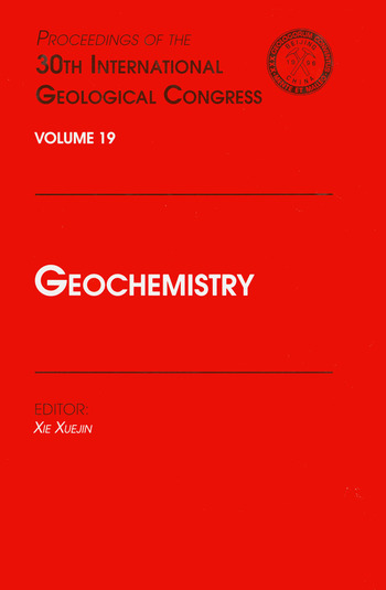 Geochemistry Proceedings of the 30th International Geological Congress, Volume 19 book cover