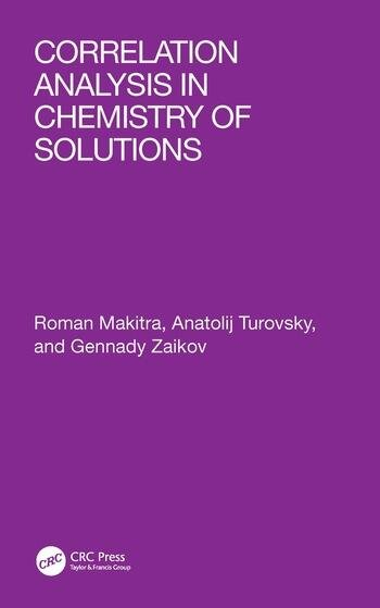 Correlation Analysis in Chemistry of Solutions book cover