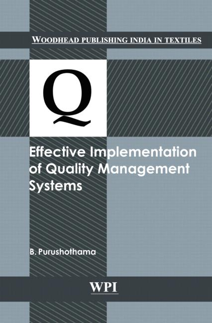 Effective Implementation of Quality Management Systems book cover