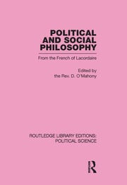 Political and Social Philosophy