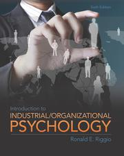 Introduction to I/O Psychology 6E: Riggio - 1st Edition book cover