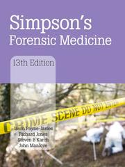 Simpson's Forensic Medicine, 13th Edition