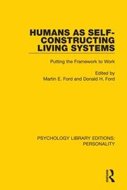 Humans as Self-Constructing Living Systems: Putting the Framework to Work