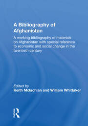 A Bibliography Of Afghanistan