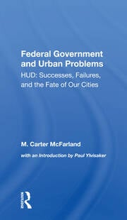 Federal Government and Urban Problems